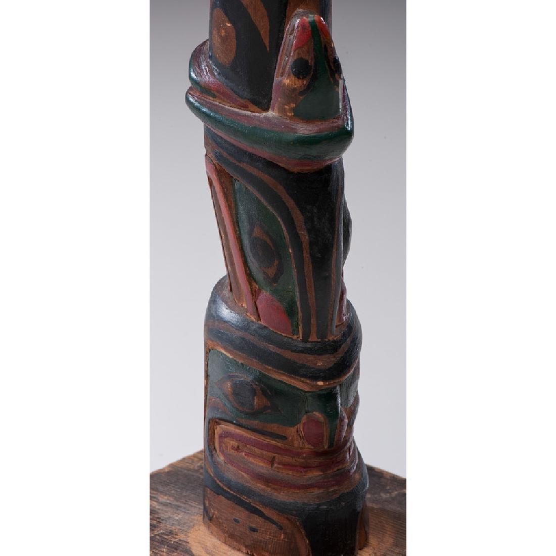 Northwest Coast Carved Wood Model Totem Pole - 7