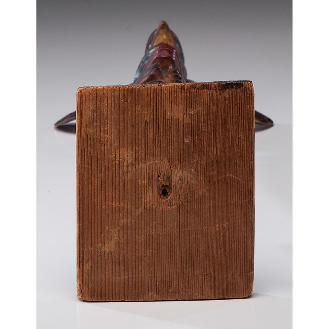 Northwest Coast Carved Wood Model Totem Pole - 8