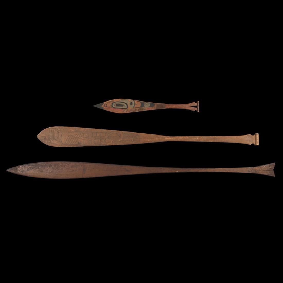 Northwest Coast Carved Wood Paddles