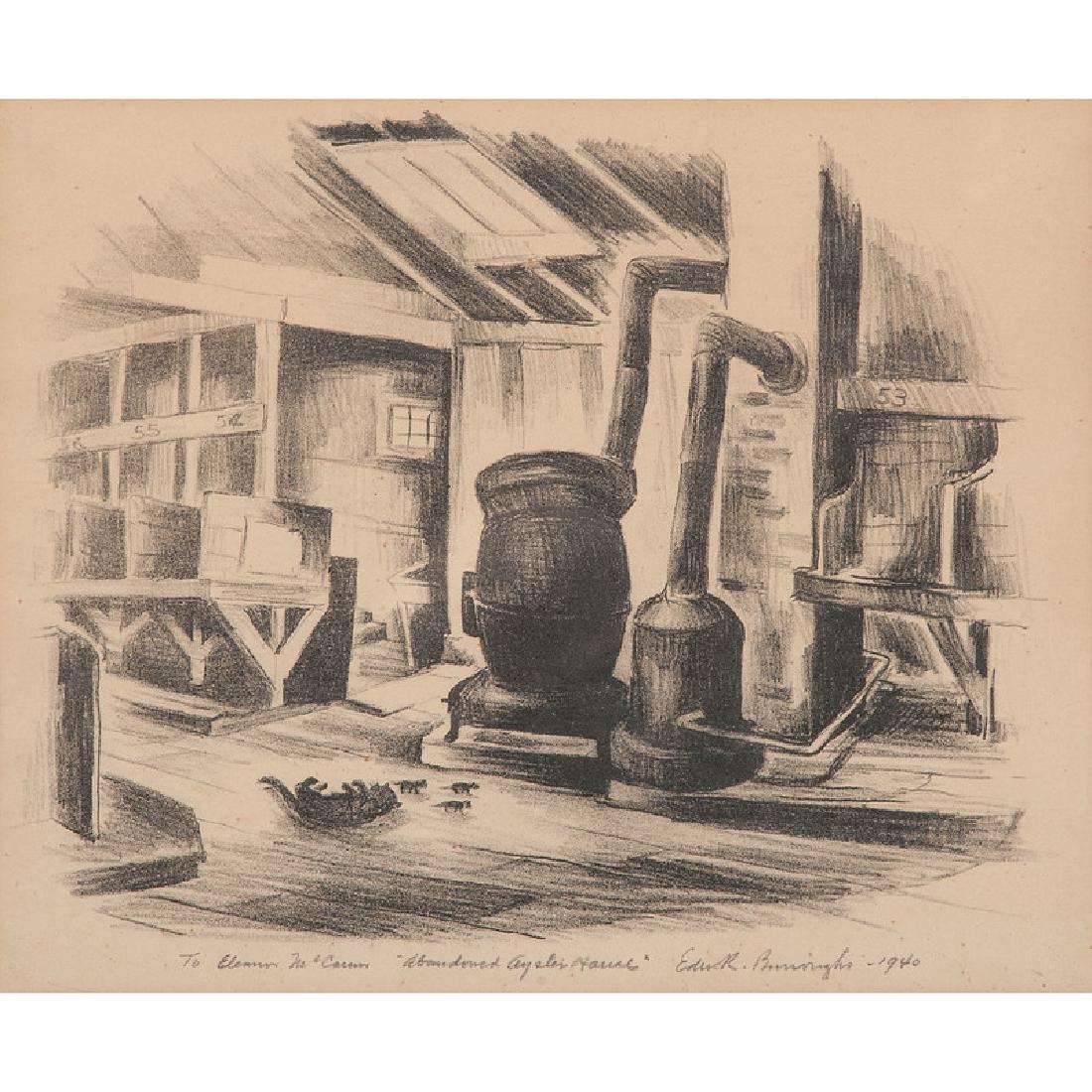 Edward R. Burroughs (Dayton, Ohio, 1922-1983), Woodcut