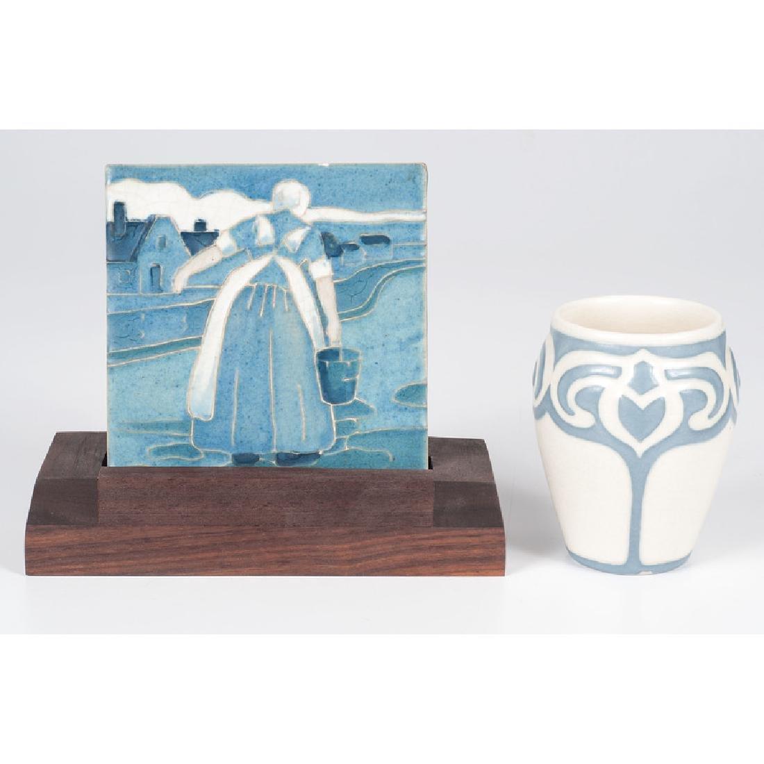 Rookwood Vellum Vase and Trivet