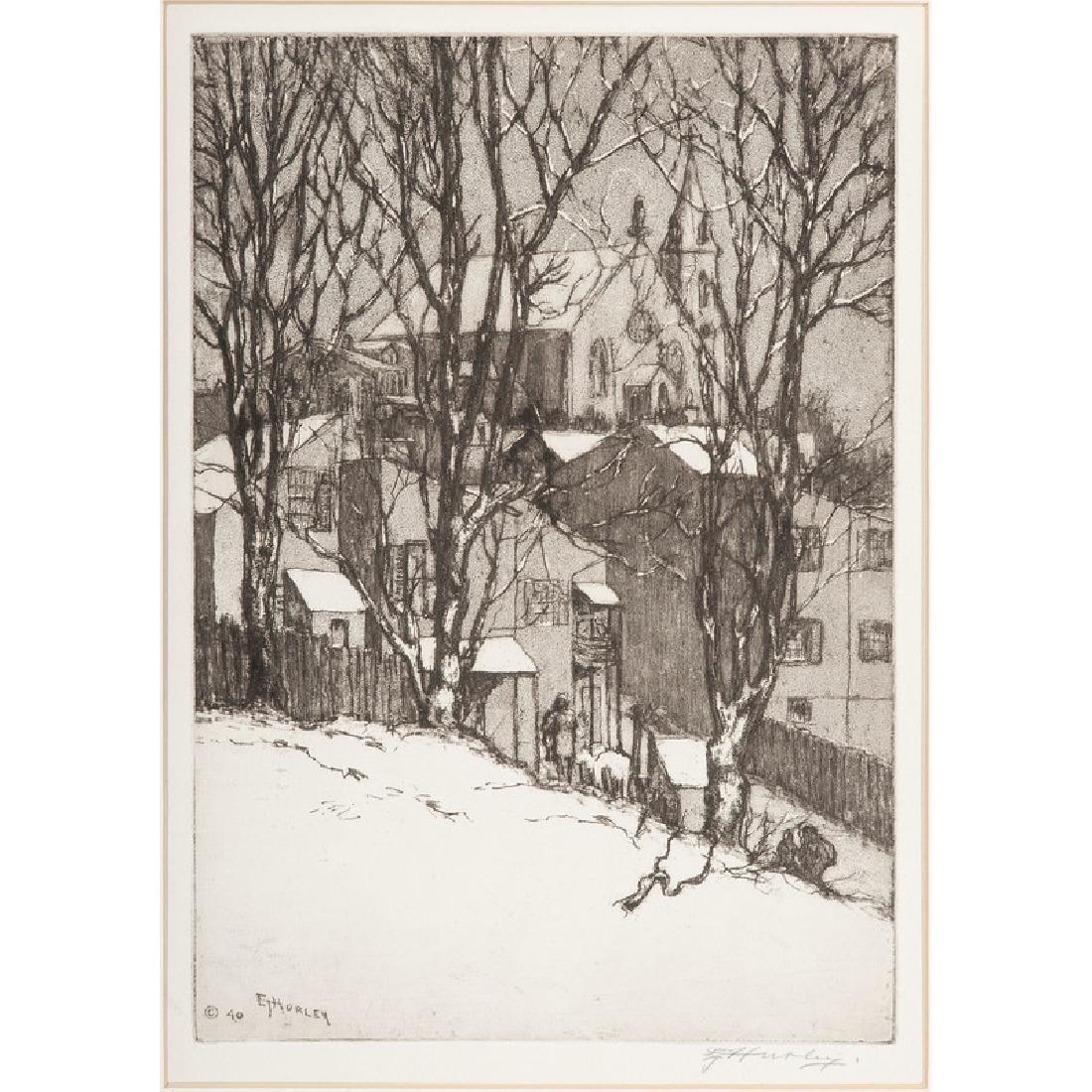 Edward Timothy Hurley (Cincinnati, 1869-1950), Etching