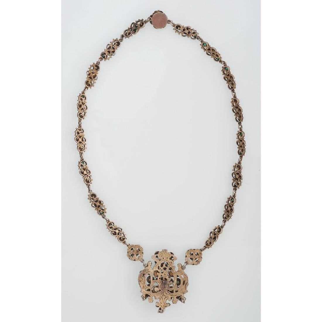 Gilt Austro Hungarian Necklace - 3