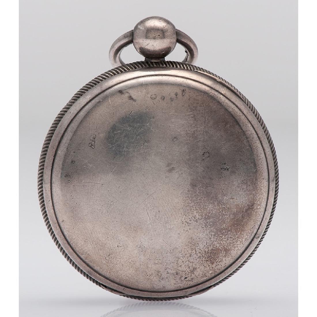 John Robinson Sterling Silver Open Face Pocket Watch - 2