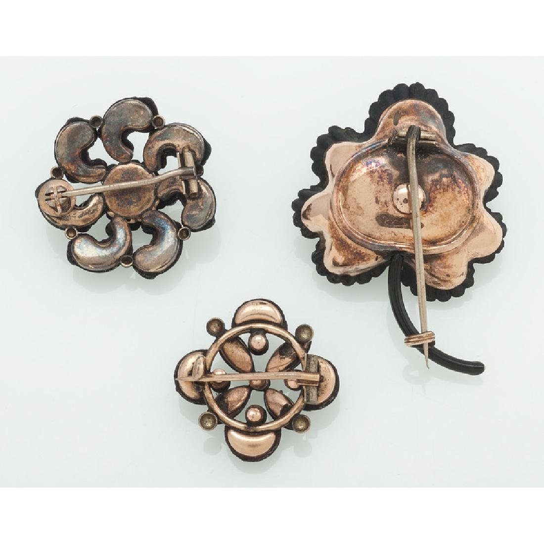Gold Filled Victorian Mourning Brooches - 2