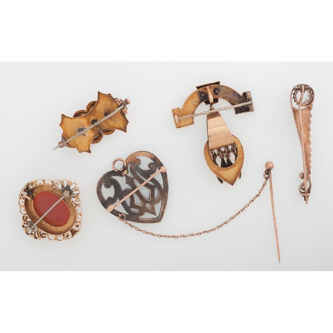 Karat Gold Victorian Brooches - 2