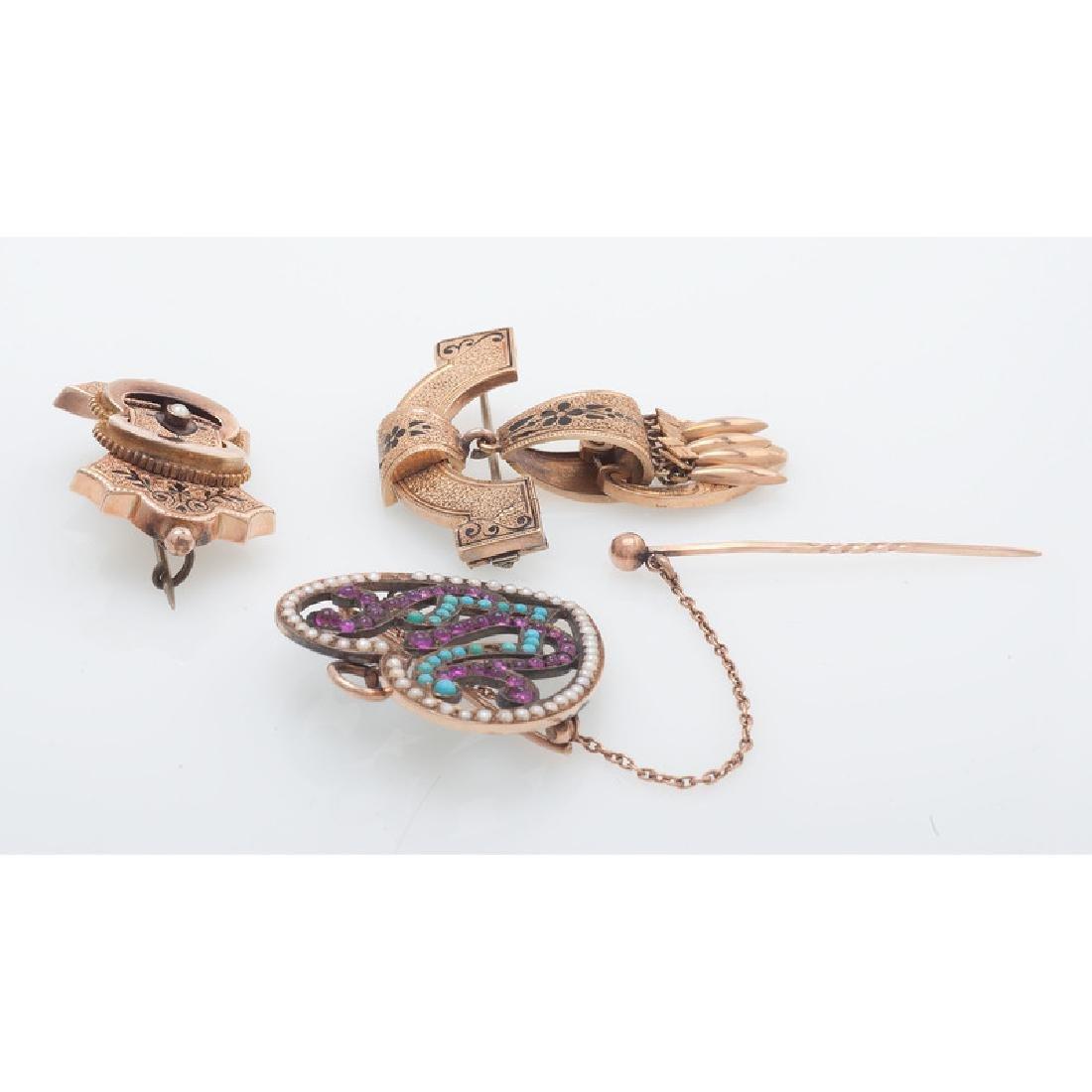 Karat Gold Victorian Brooches - 3