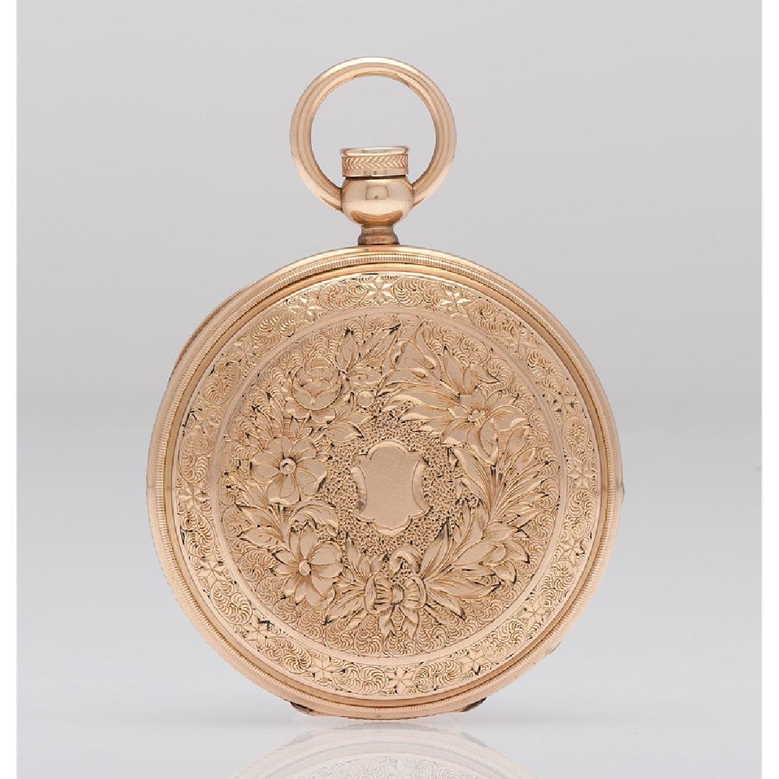 Elgin 14 Karat Yellow Gold Hunter Case Pocket Watch Ca. - 2