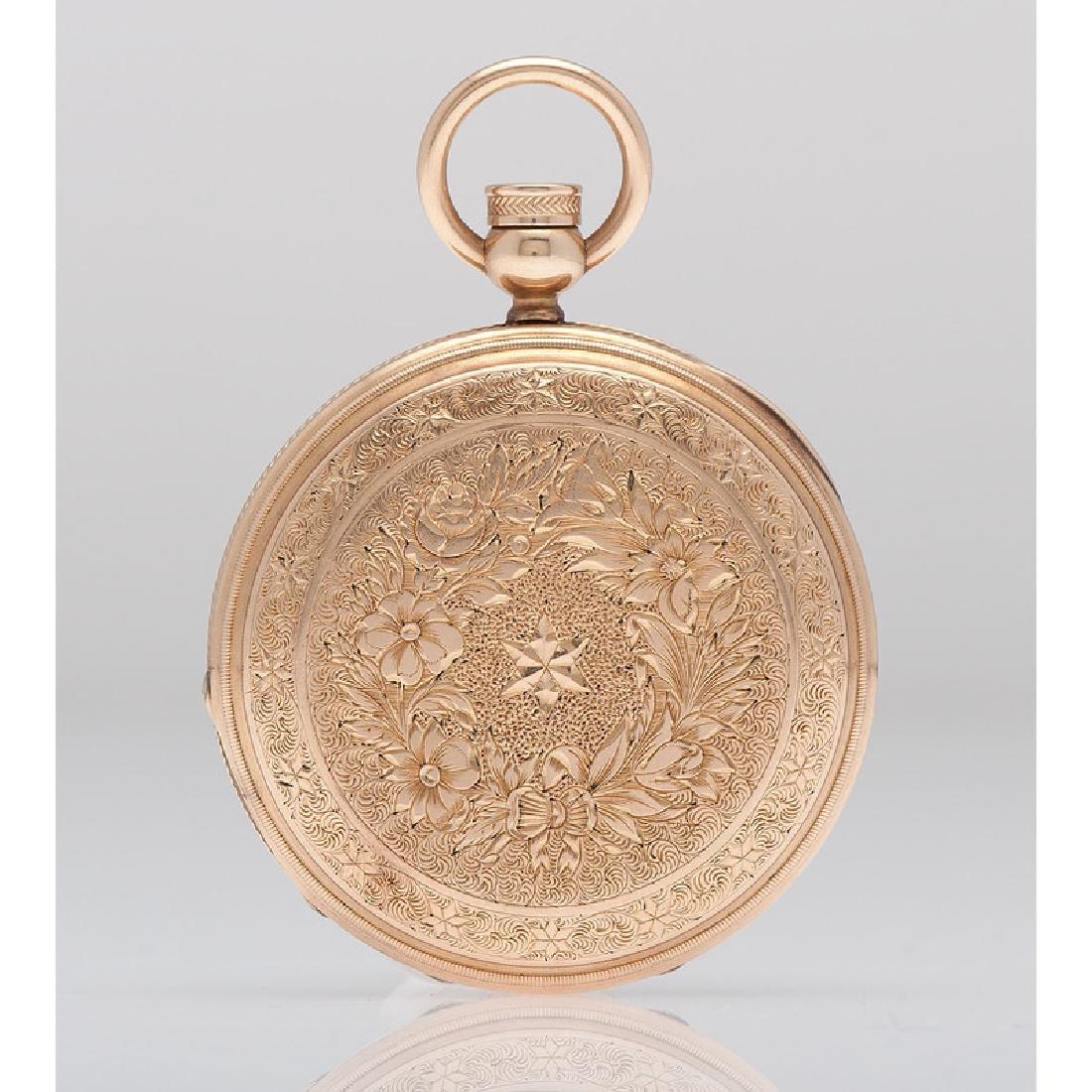Elgin 14 Karat Yellow Gold Hunter Case Pocket Watch Ca. - 3