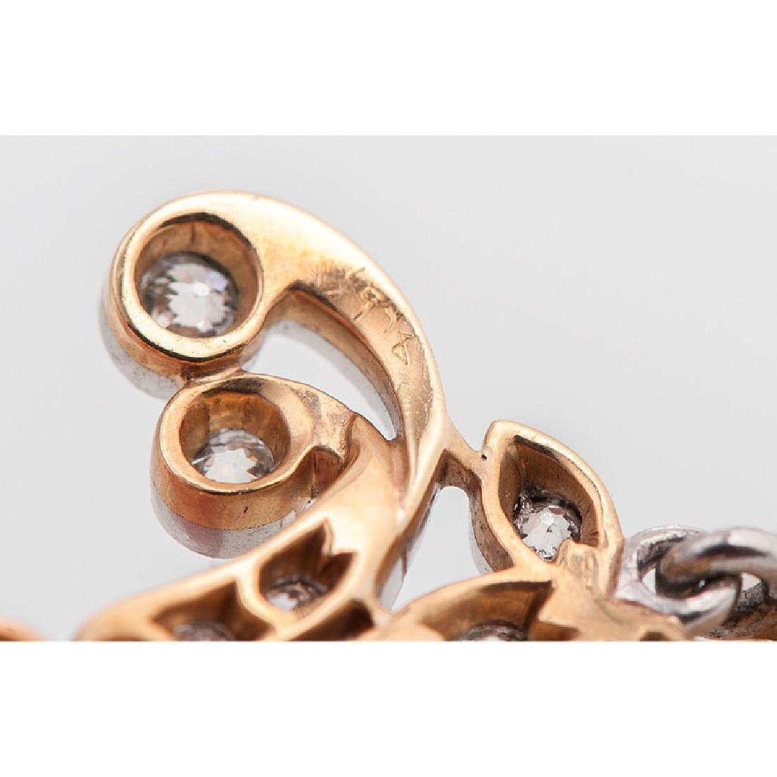 Platinum Over 18 Karat Gold Edwardian Diamond and Pearl - 4