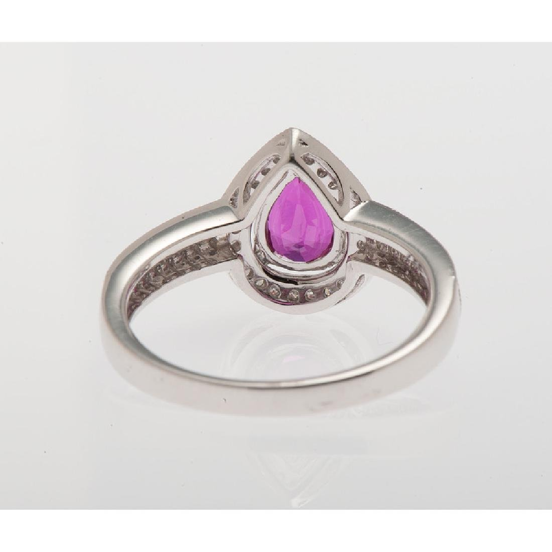 Orianne Platinum Ruby and Diamond Ring with GIA - 3