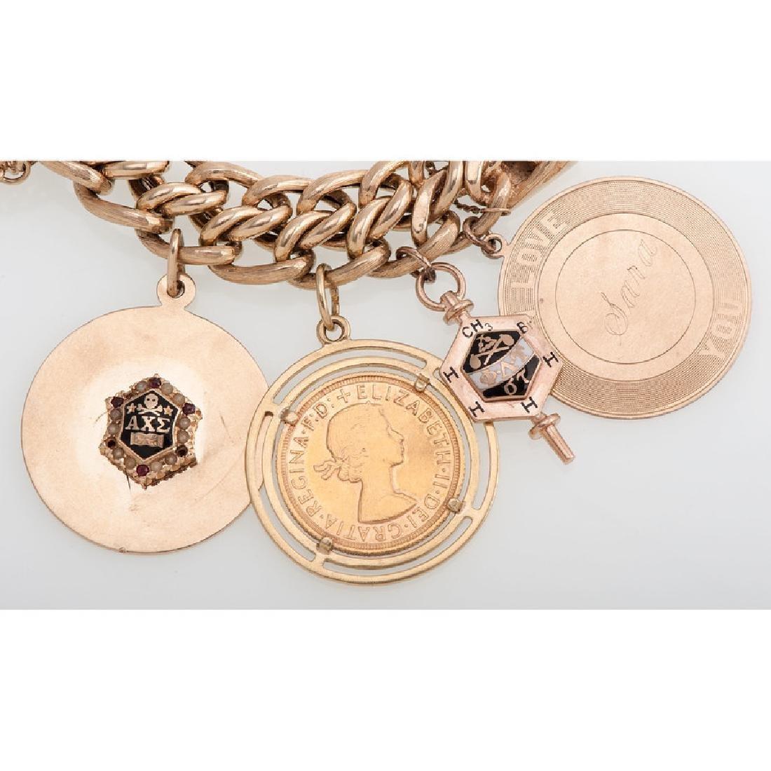 14 Karat Yellow Gold Charm Bracelet - 5