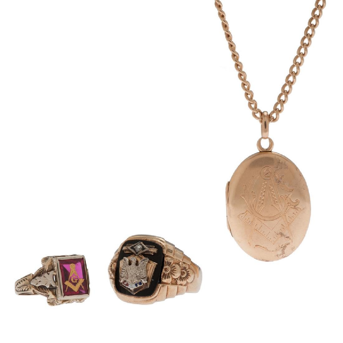 10 Karat Gold Fraternal Jewelry