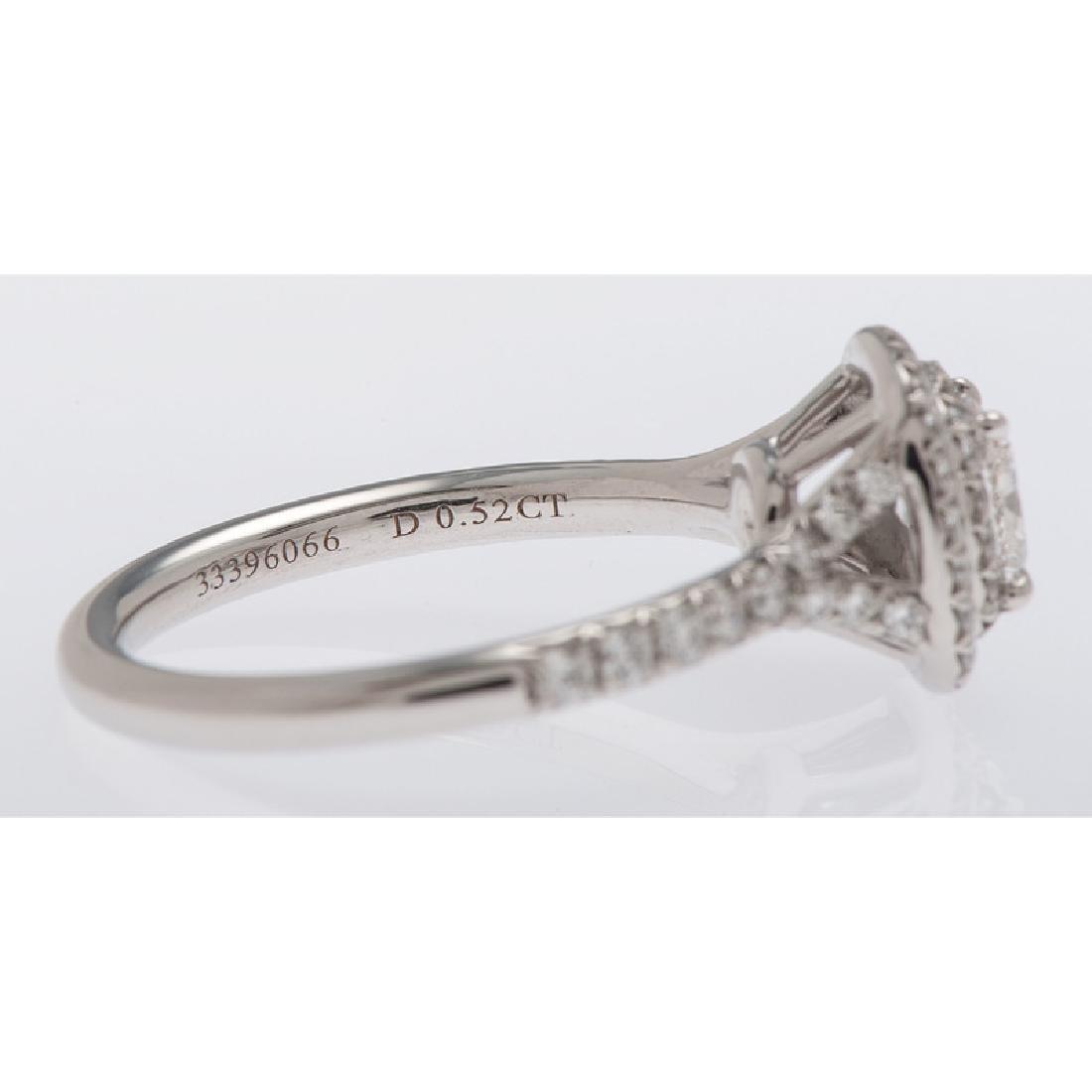 Tiffany & Co. Platinum Soleste Diamond Ring - 3