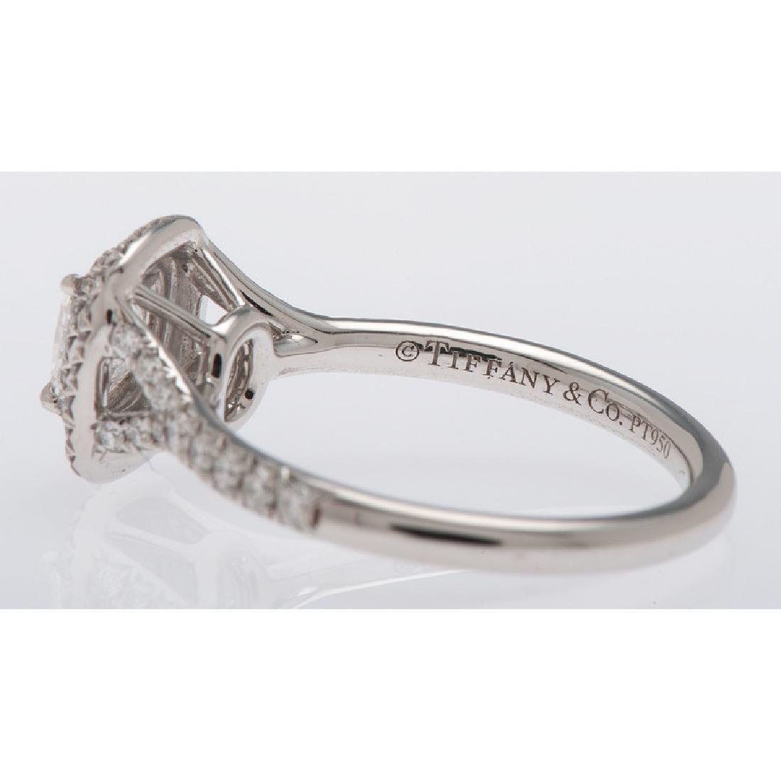 Tiffany & Co. Platinum Soleste Diamond Ring - 4