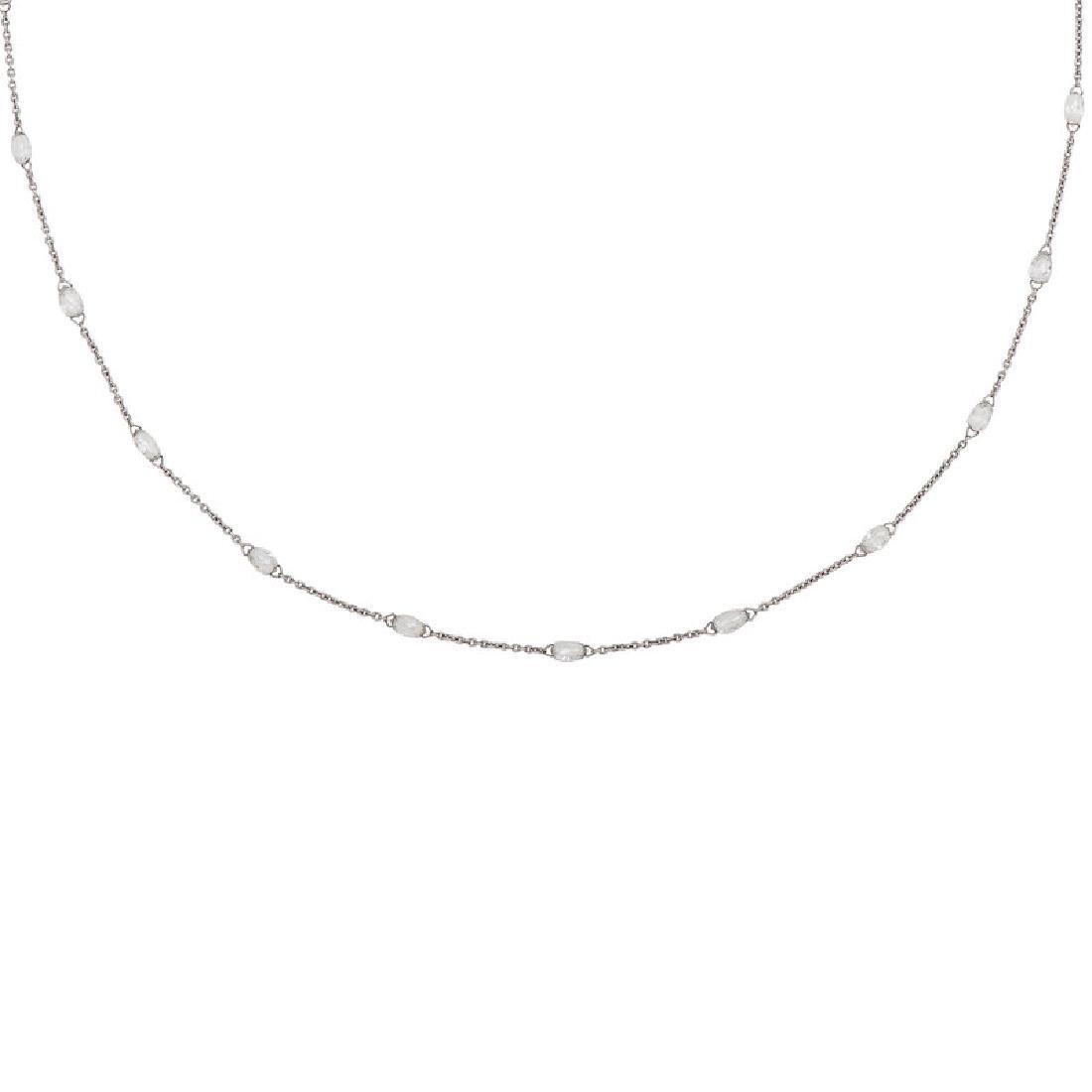 18 Karat White Gold Diamond Necklace