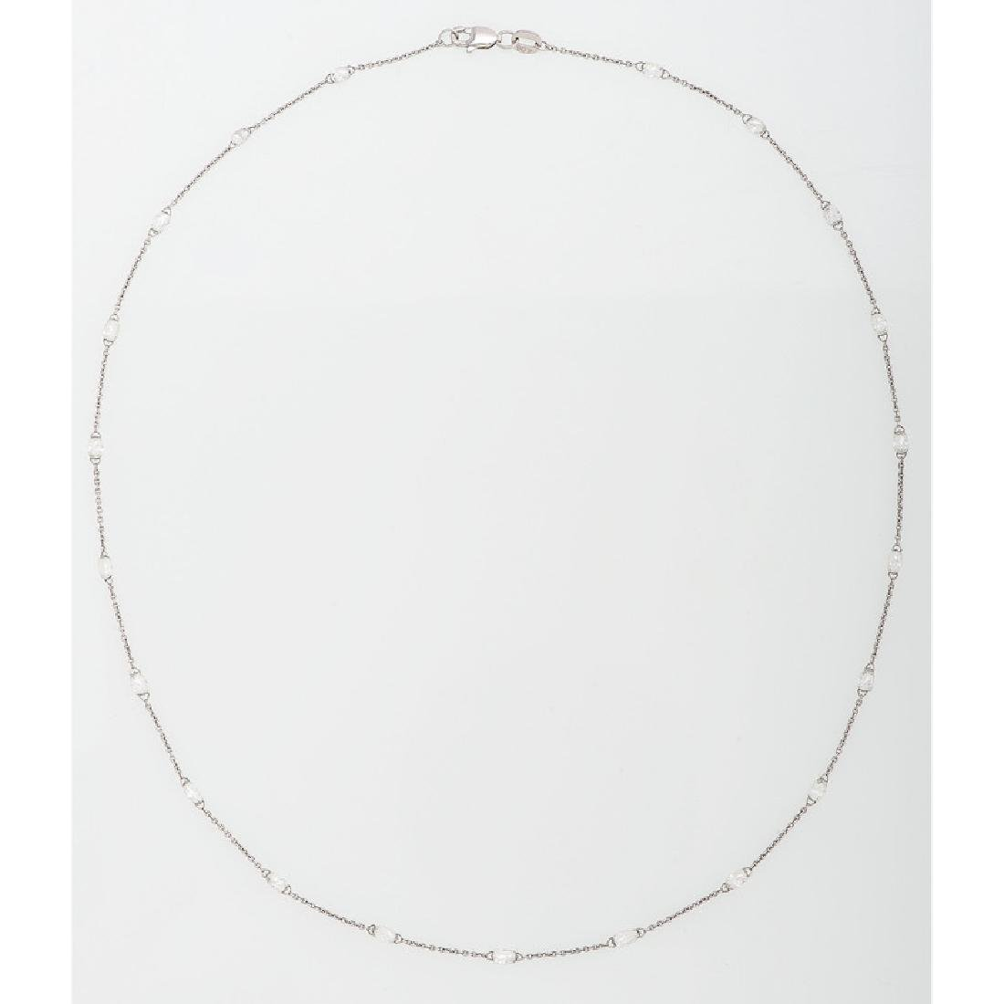 18 Karat White Gold Diamond Necklace - 2