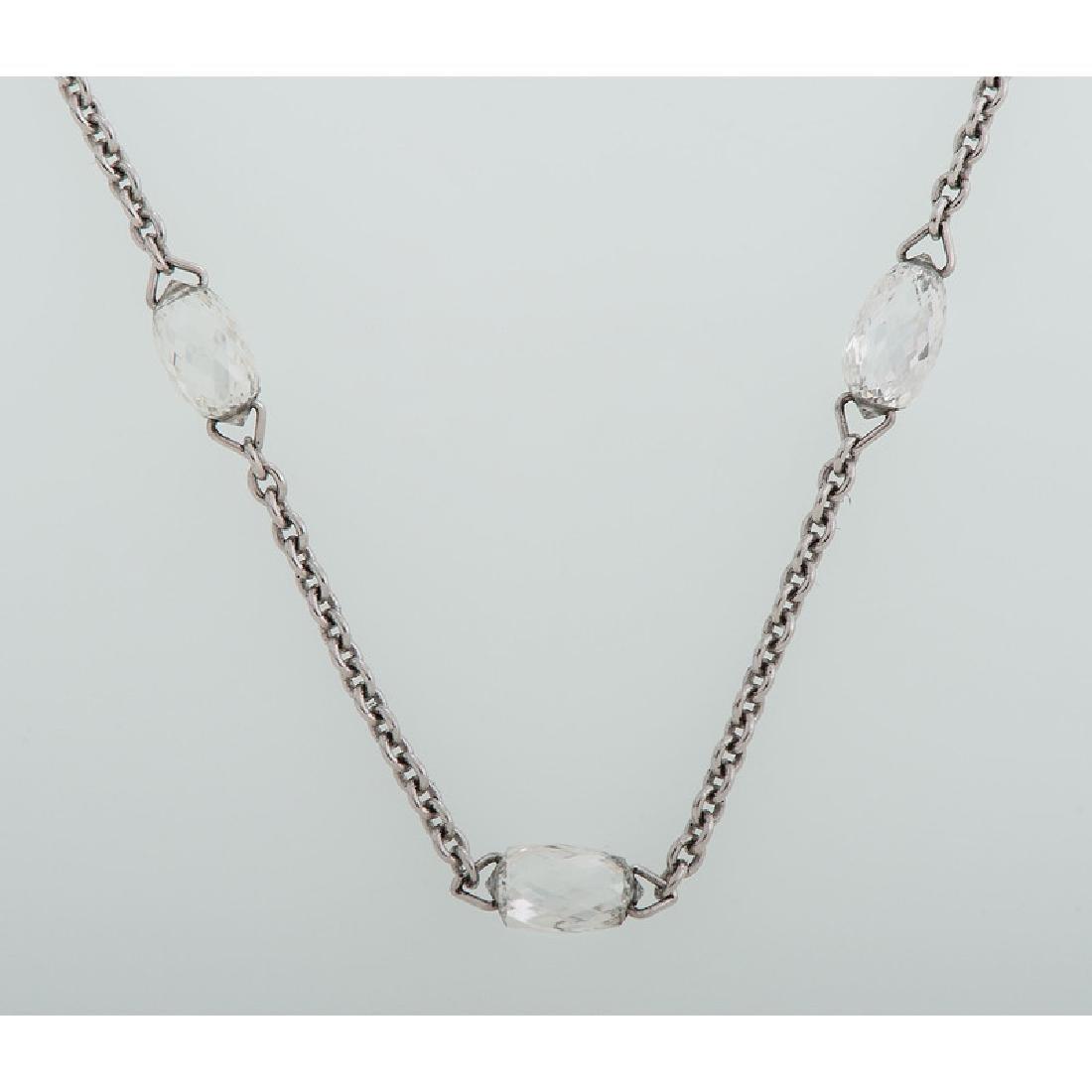 18 Karat White Gold Diamond Necklace - 3
