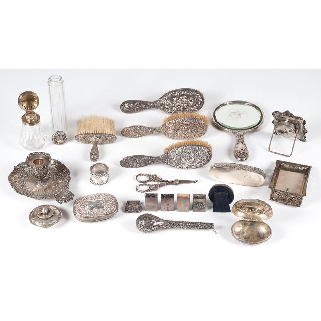 Sterling-Mounted Dresser Accessories - 2