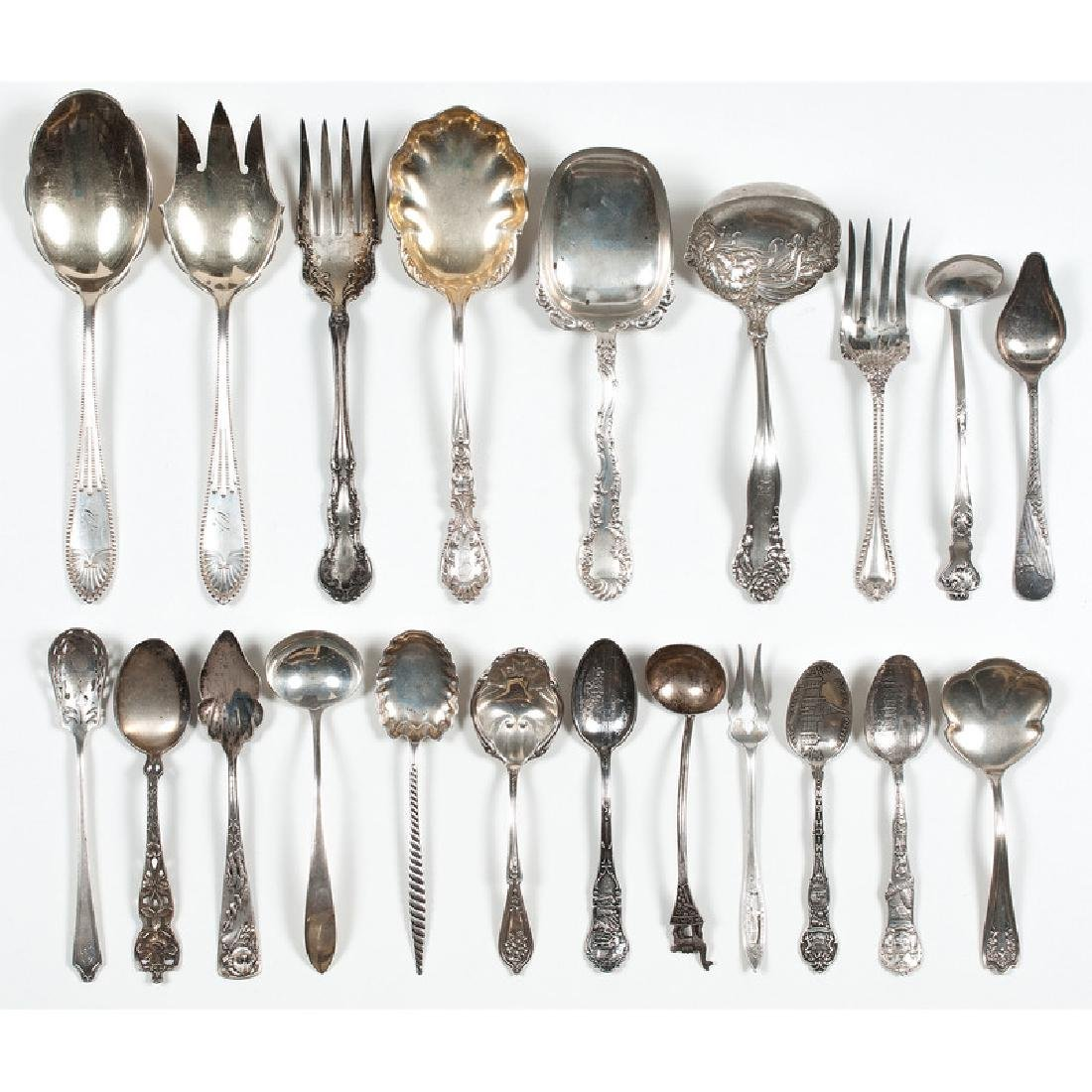 American Sterling Flatware Including Souvenir Spoons - 2