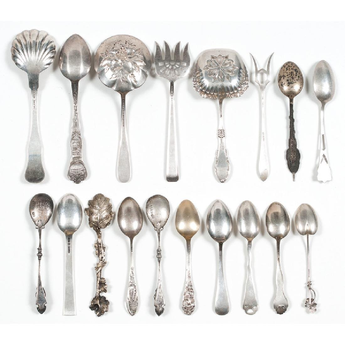 American Sterling Flatware Including Souvenir Spoons - 5