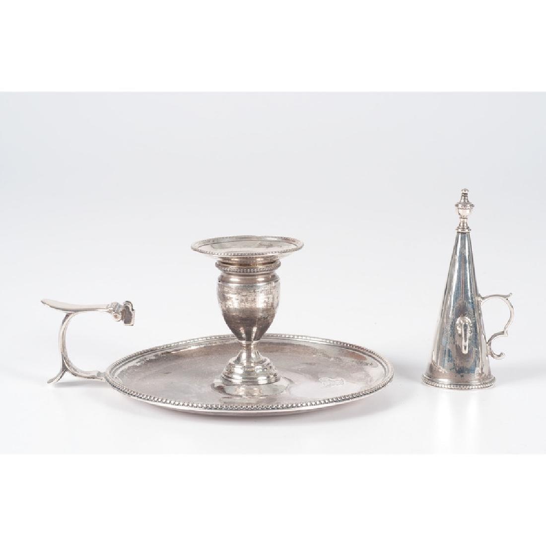 English Sterling Silver Chambersticks - 2