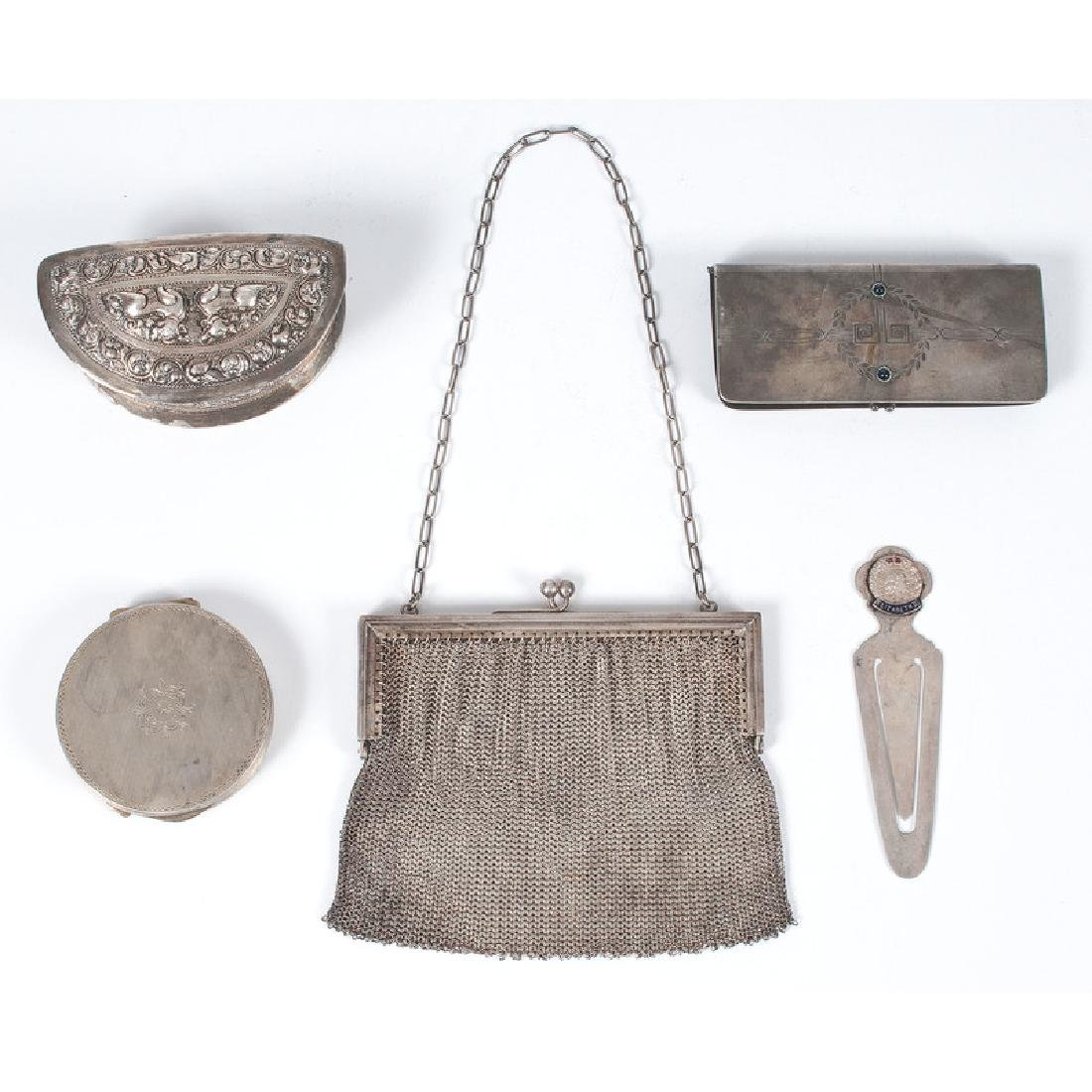Sterling Mounted Purse and Other Accessories