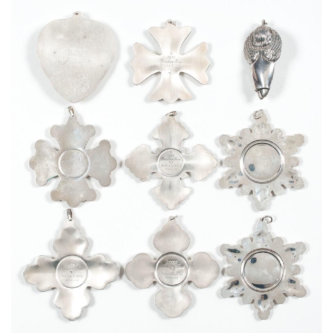 American Silver Christmas Ornaments - 2