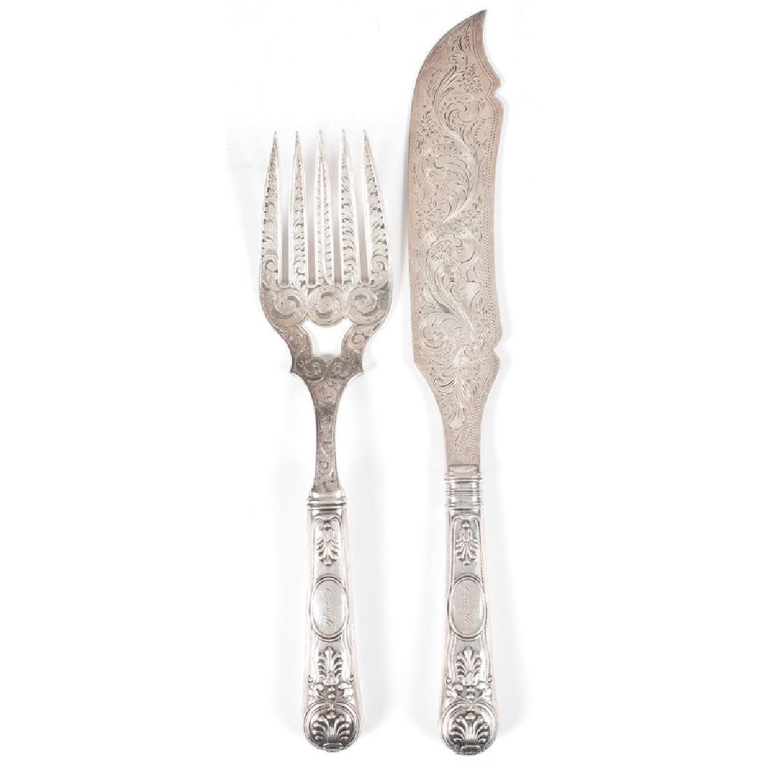 Bailey & Co. Silver Fish Serving Set