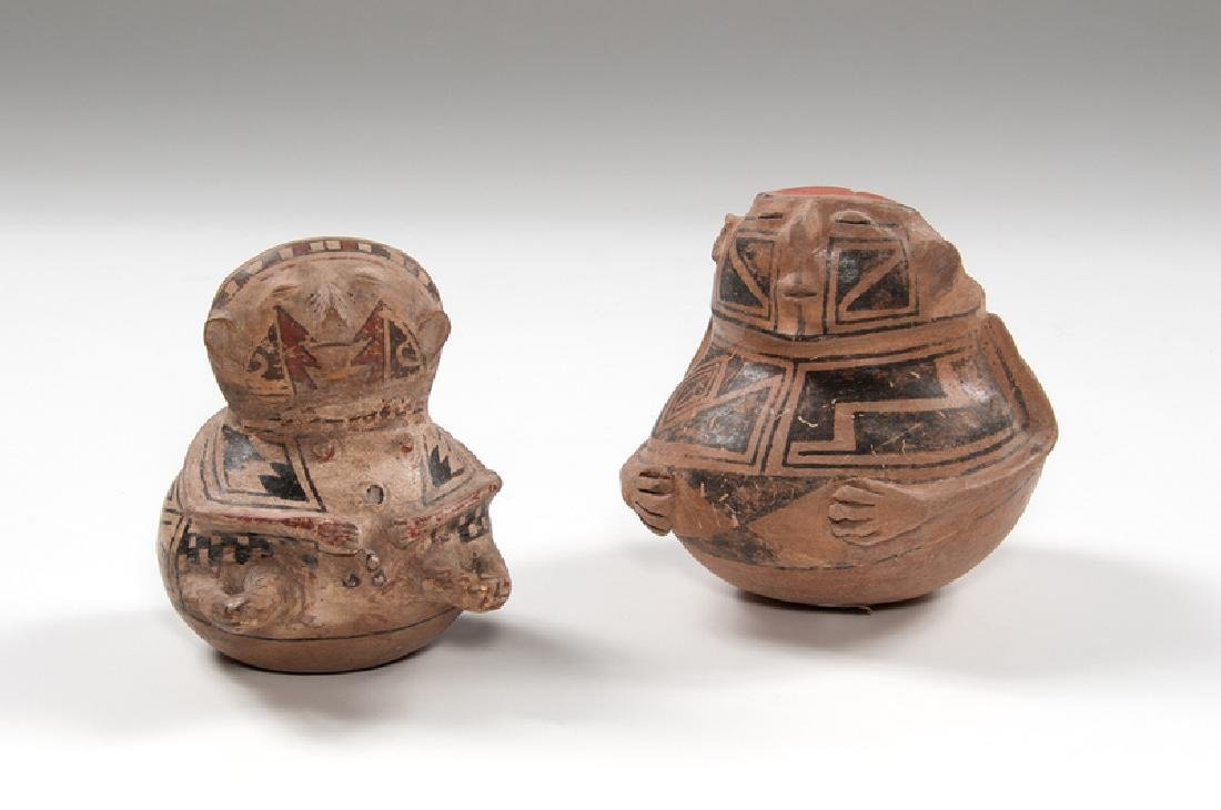 Casas Grandes Polychrome Hooded Human Effigy Pottery