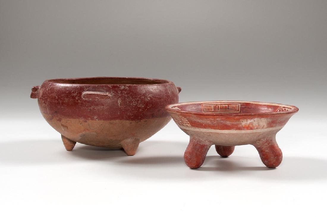 Pre-Columbian Tripod Rattle Dish, Plus
