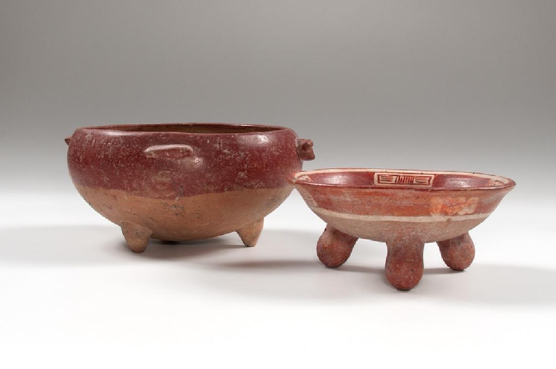 Pre-Columbian Tripod Rattle Dish, Plus - 2