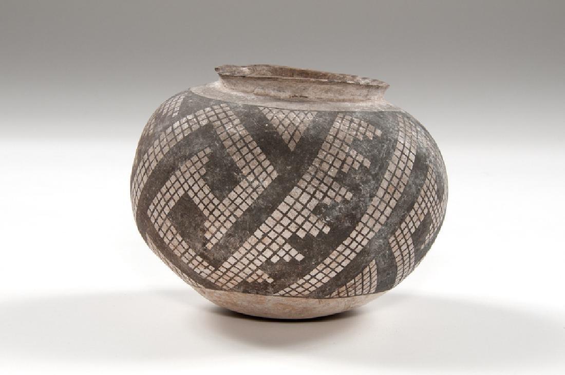 Anasazi Snowflake Black-on-White Bowl - 2