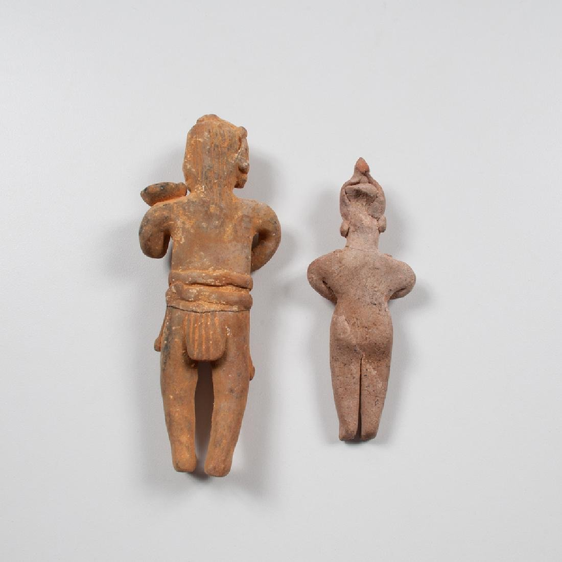 Colima Pottery Standing Figures - 2