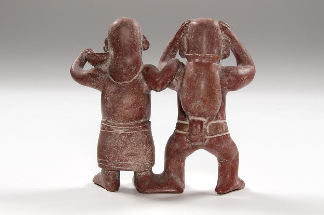 Redware Pottery Double Figure, Likely Nayarit or Colima - 2