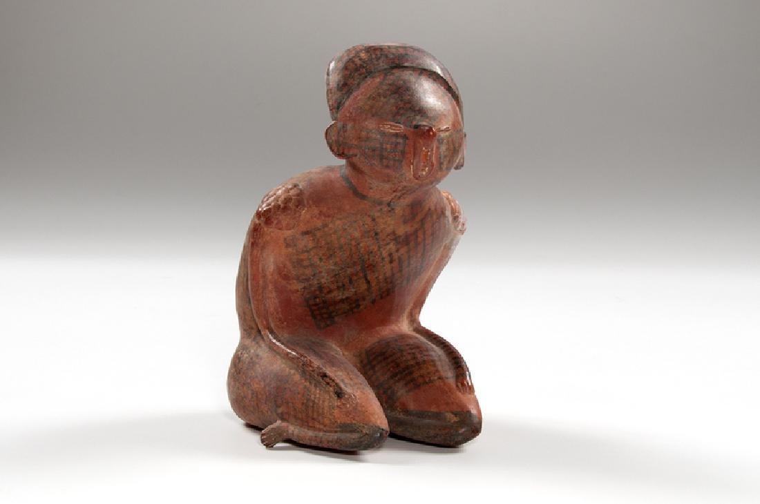 Nayarit Chinesco Redware Kneeling Figure