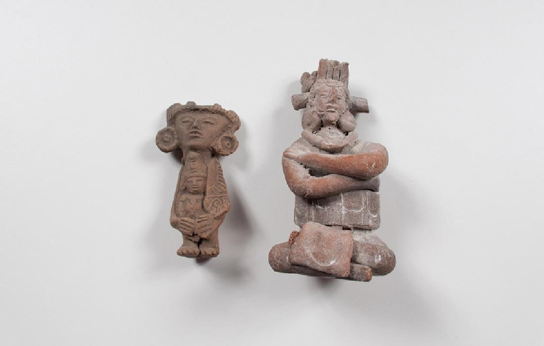 Pre-Columbian Pottery Priest and Priestess, Possibly