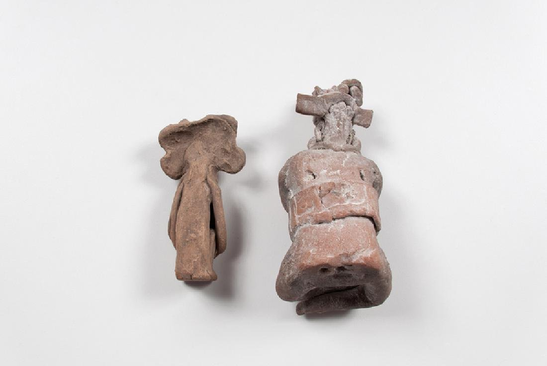 Pre-Columbian Pottery Priest and Priestess, Possibly - 2