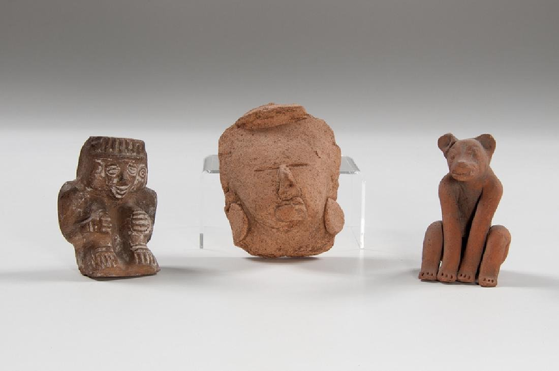 Pre-Columbian Pottery Figures, Plus