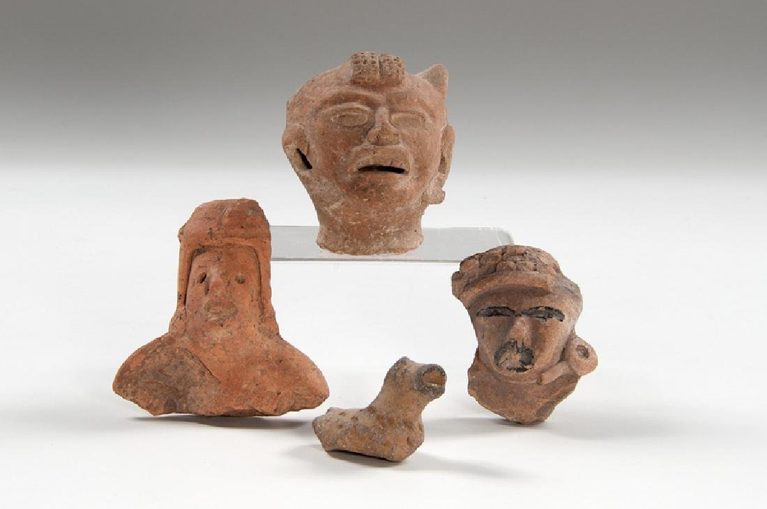 Pre-Columbian Pottery Heads, Plus