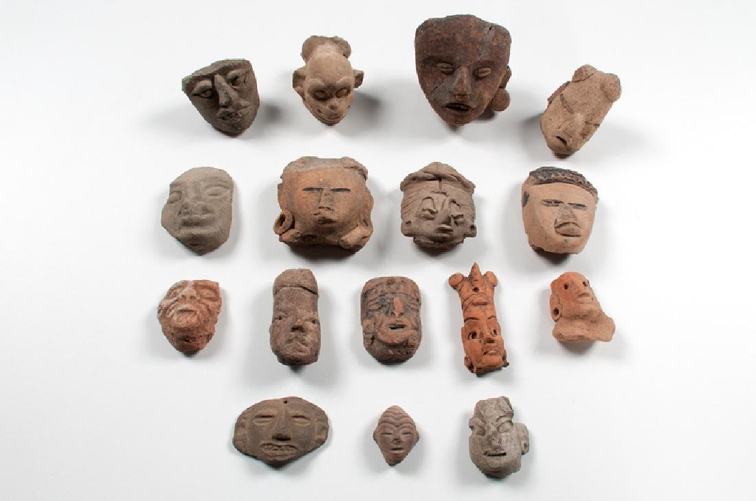 Pre-Columbian Pottery Head Fragments
