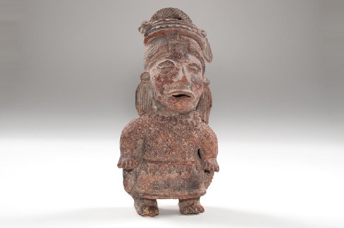Jalisco Standing Pottery Female Figure