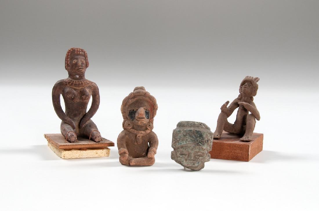Mesoamerican Pottery Figures, Plus
