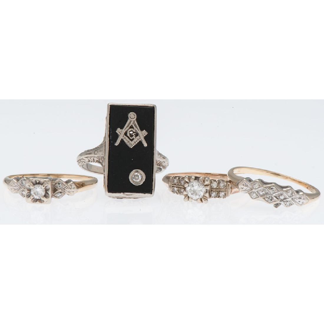 14 Karat Gold Diamond Rings