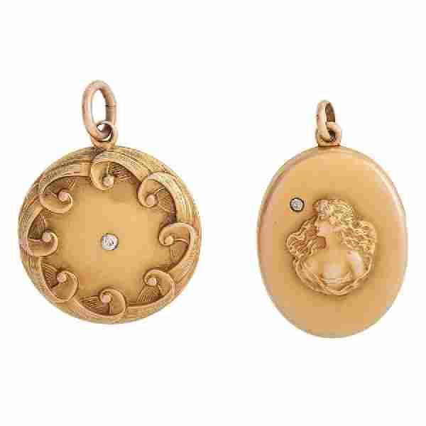 Gold Filled Diamond Lockets