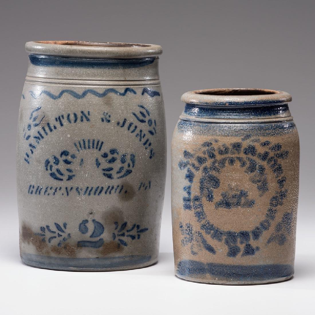 Hamilton & Jones Stoneware Crocks
