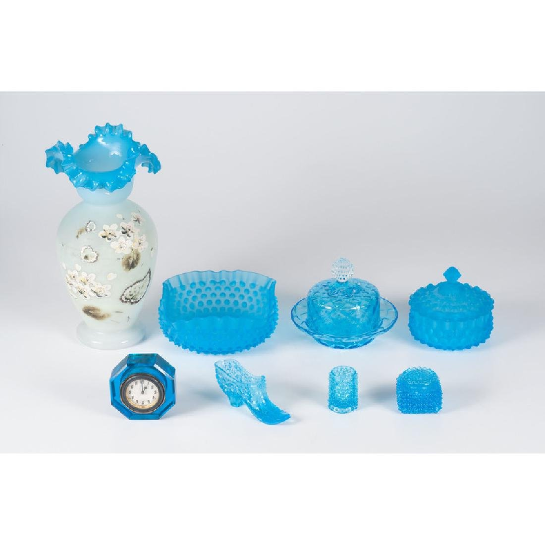 Victorian Blue Glass Tablewares