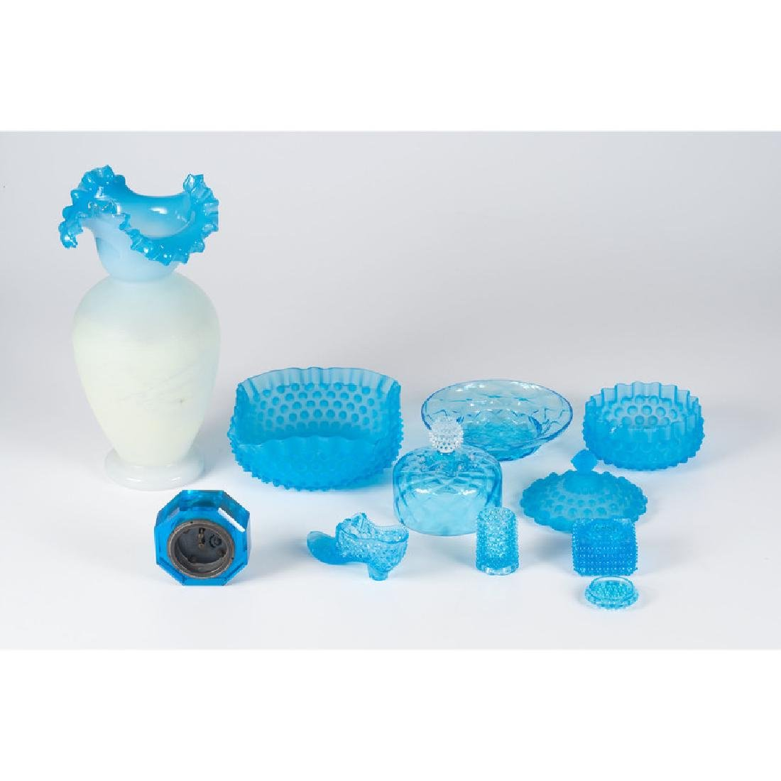 Victorian Blue Glass Tablewares - 2