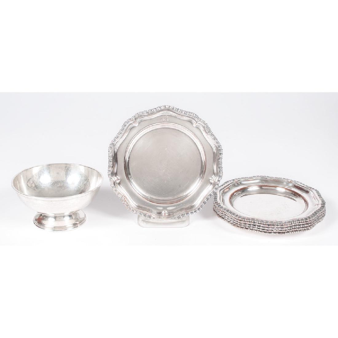 Sheffield Plate Bread and Butter Plates, Plus