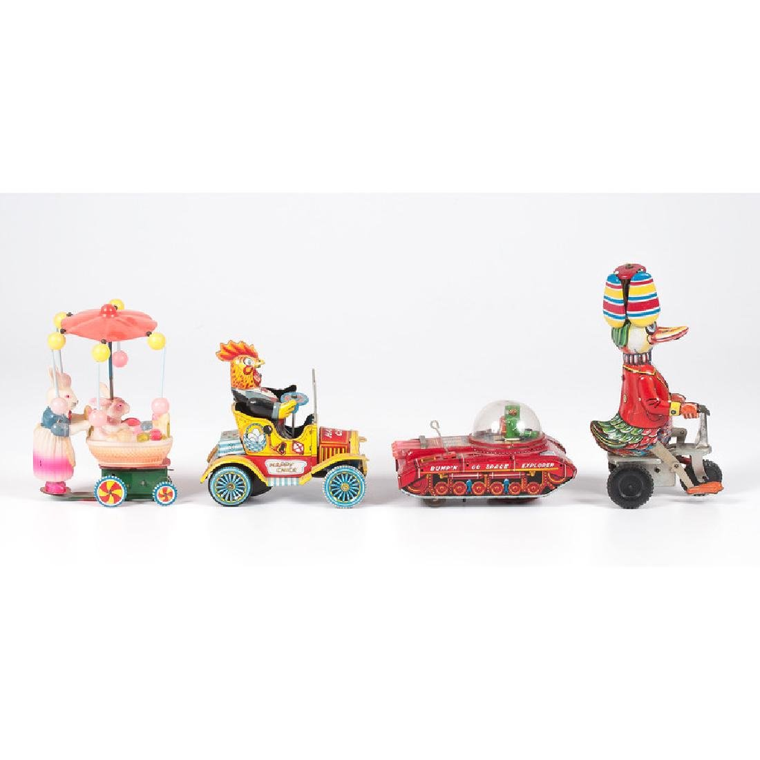 Tin and Celluloid Driver Toys